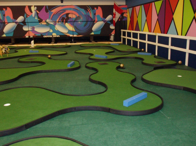 Bowling center solutions at owosso bowling center mini golf holes