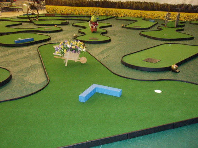 Bowling center solutions at owosso bowling center mini golf holes featuring shrek