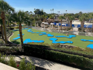 Marriott MiniLinks mini golf course aerial drone view