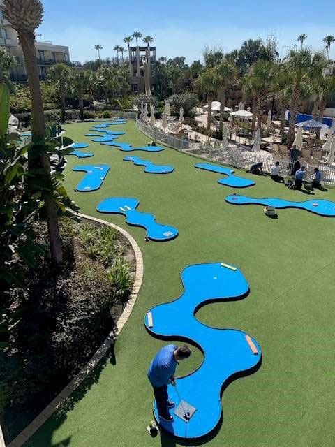 Marriott MiniLinks mini golf course with trees
