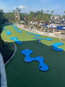 Blue turf MiniLinks holes by AGS