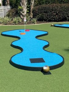 MiniLinks hole with blue turf at the Marriott in Orlando, Florida