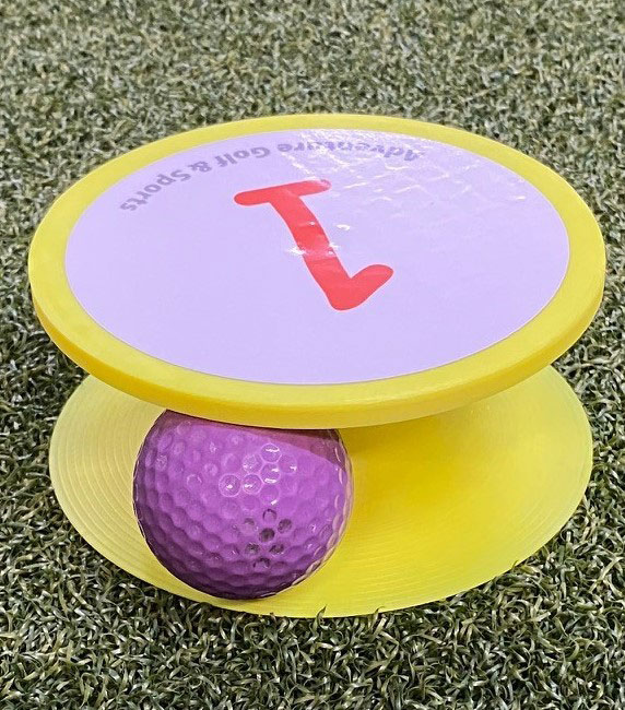 RailShot™ Elevated Cups eliminate sunken golf holes and allow course installation on any surface